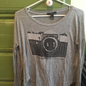 Forever 21    Long Sleeve Camera Top